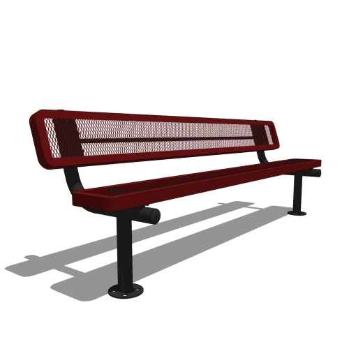 8′ Bench with Back
