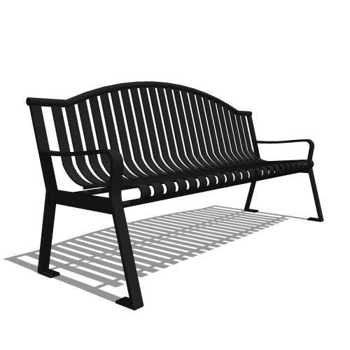 Capital Series – CS1 – 6′ Strap Metal Arch Bench