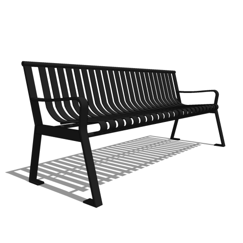 Capital Series – CS2 – 6′ Strap Metal Straight Back Bench