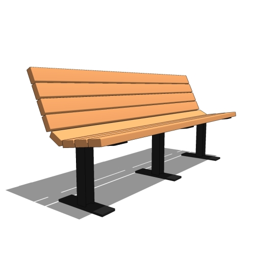 6′ Contour Recycled Plastic Bench
