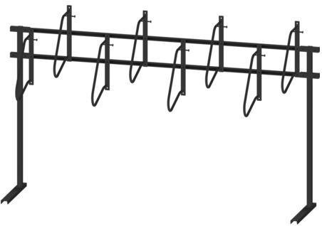 X1™ Single Sided Free Standing Vertical Bike Rack