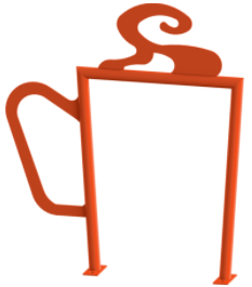 Coffee Cup Bike Rack