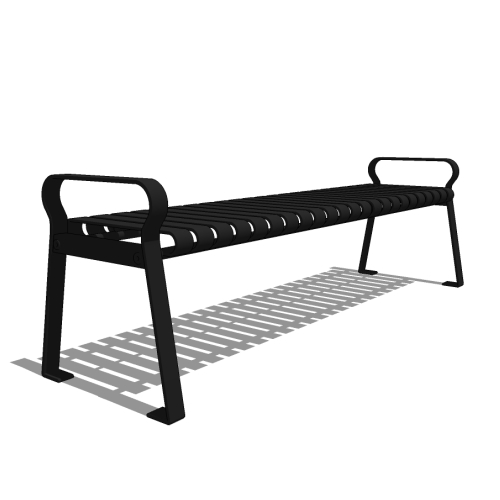 Capital Series – CS3 – 6′ Strap Metal Backless Bench