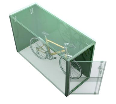 Space Saving Steel Bicycle Locker