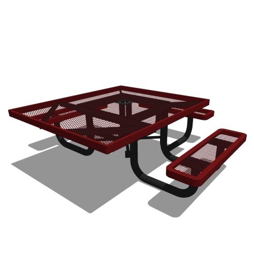 46 Children's Square Portable Picnic Table – 3 Seat