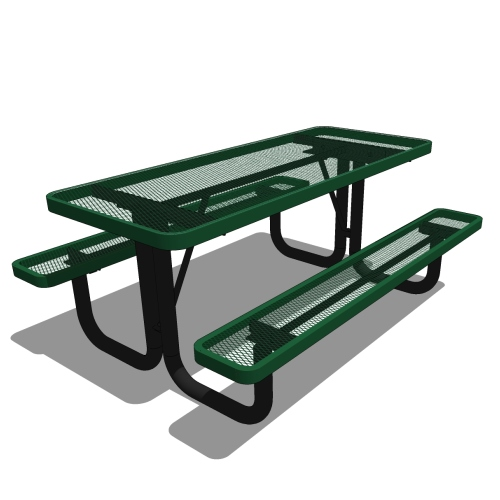 6′ Rectangular Portable Picnic Table