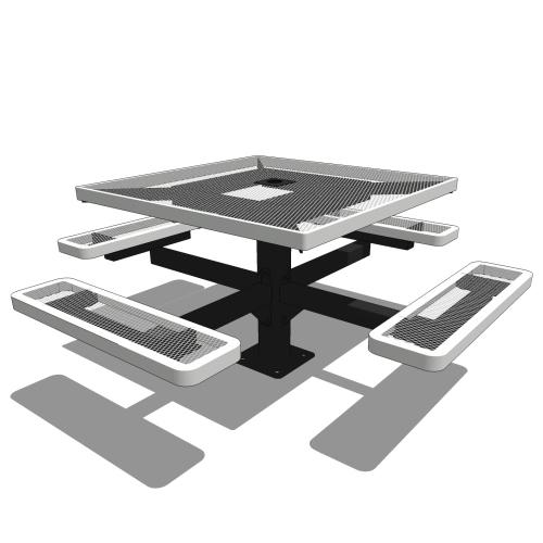46 Square Pedestal Table