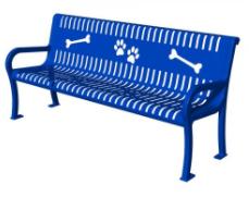 Strap Metal Puppy Paws Dog Bench