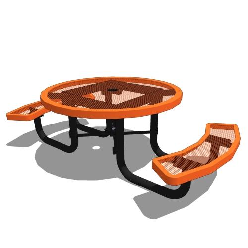 46 Children's Round Portable Table – 2 Seat