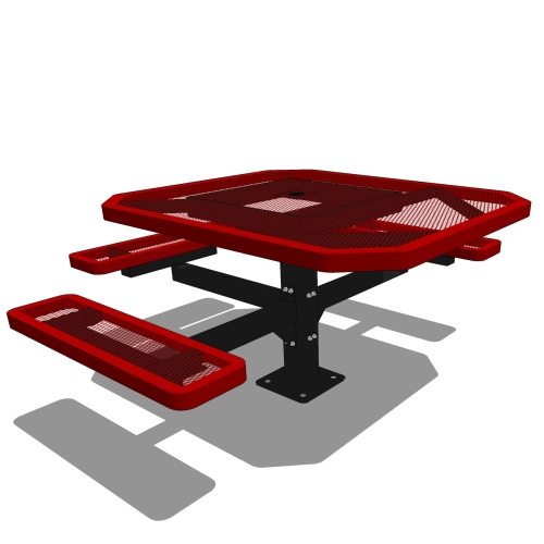 46 Octagon Pedestal Table – 3 Seat