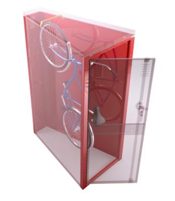 Vertical Bicycle Locker