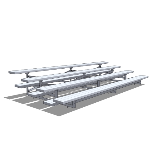 4 Row Aluminum Bleacher