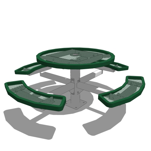 46″ Round Pedestal Picnic Table – In Ground or Surface Mount