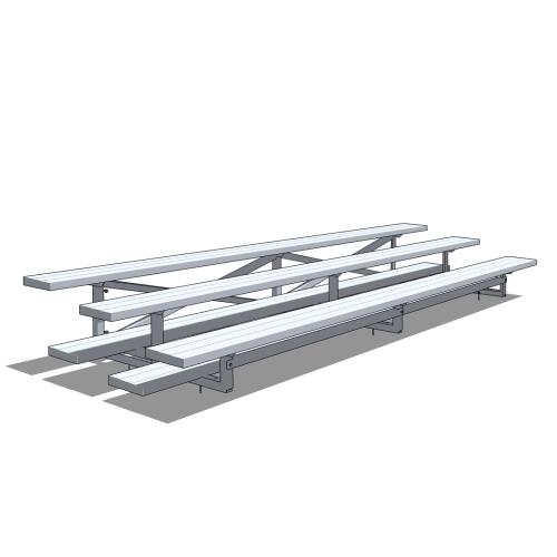 3 Row Aluminum Bleacher