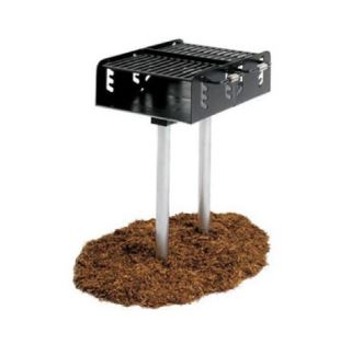 Dual Grate Outdoor Barbecue Grill – 550 Square Inches – In Ground