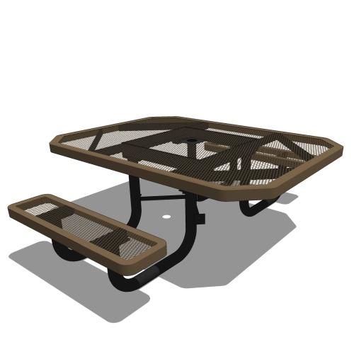 46 Children's Octagonal Portable Table – 2 Seat