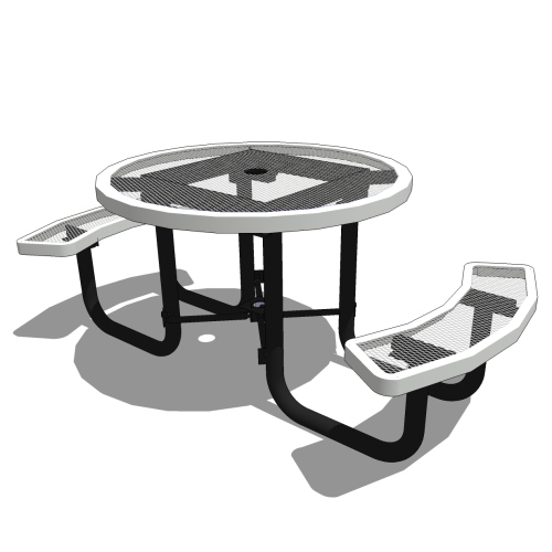 46″ Round Portable Table – 2 Seat