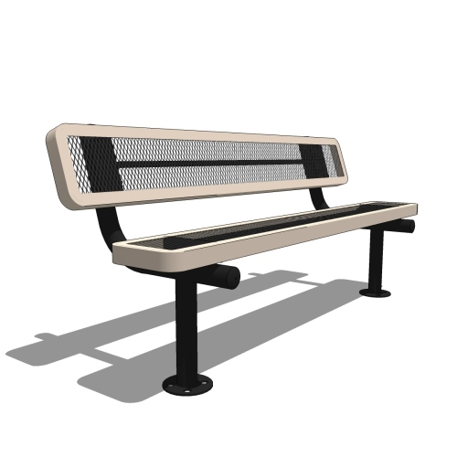 6′ Bench with Back