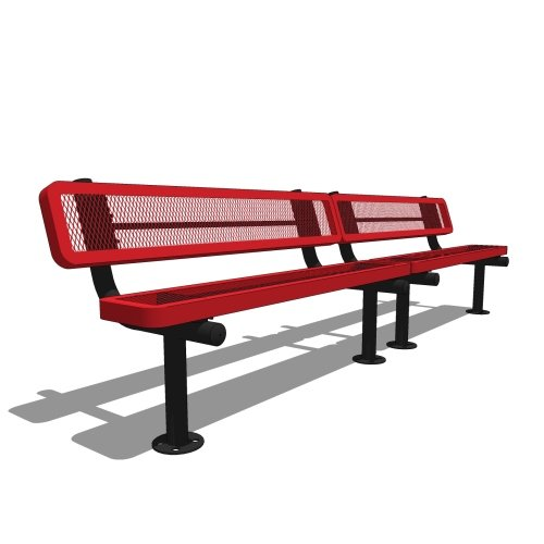 10′ Bench with Back
