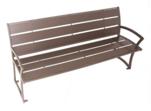 Madison Bench With Back – Powder Coated Steel