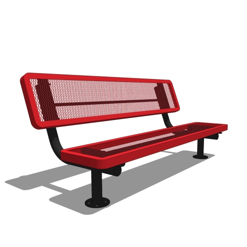 6′ Children's Player's Bench with Back