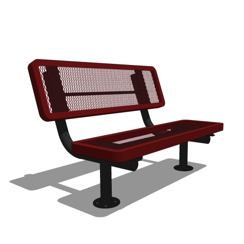 4′ Children's Player's Bench with Back