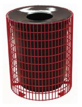32 Gallon Steel Wire Receptacle