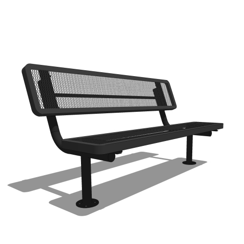 6′ Player's Bench with Back