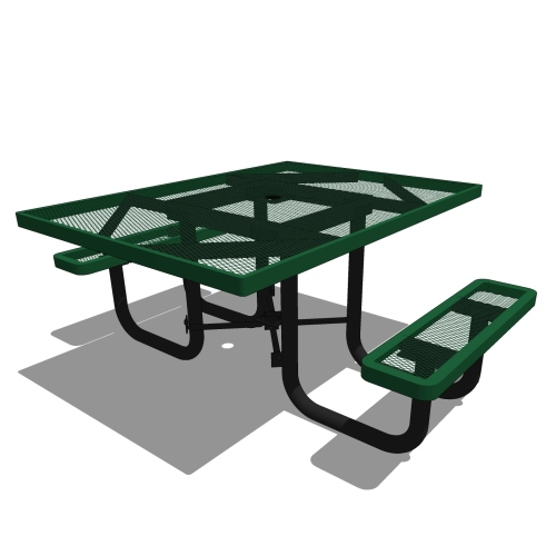 46 Square Portable Accessible Table – 2 Seat