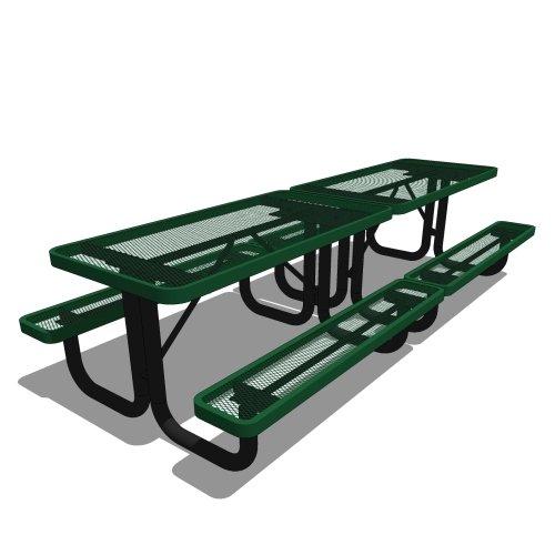 10′ Elementary Rectangular Portable Picnic Table