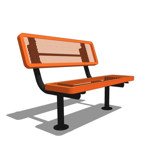 4′ Player's Bench with Back