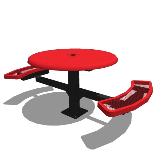 46 Round Pedestal Table Solid Top – 2 Seat