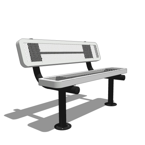 4′ Bench with Back