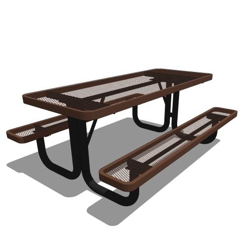 6′ Children's Rectangular Portable Picnic Table