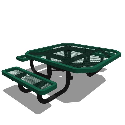 46 Children's Octagonal Portable Table – 3 Seat