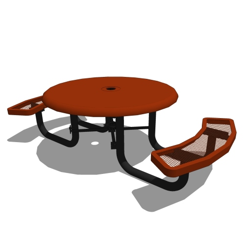 46 Children's Round Solid Top Portable Table – 2 Seat