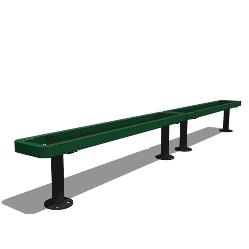 10′ Children's Bench without Back (2 x 5′ Sections)