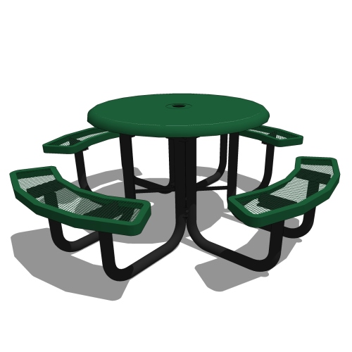 46″ Round Portable Solid Top Picnic Table