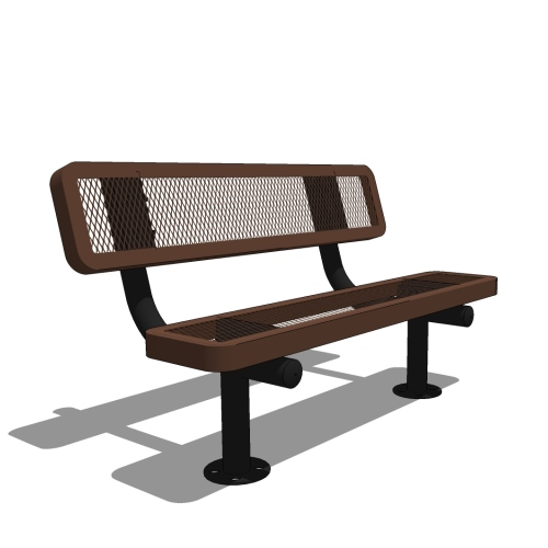 4′ Children's Bench with Back