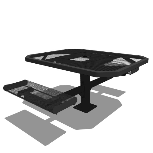 46 Octagonal Pedestal Table Rolled Seat – 2 Seat