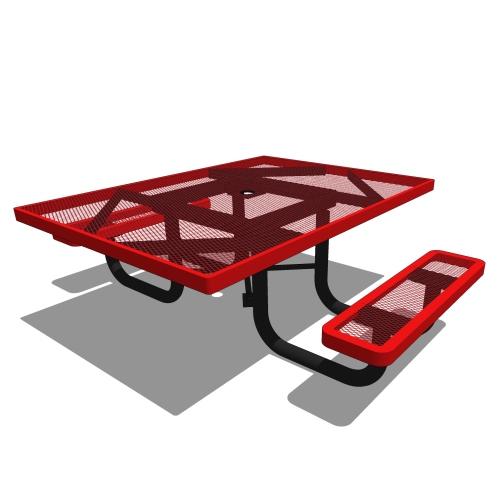 46 Children's Square Portable Picnic Table – 2 Seats