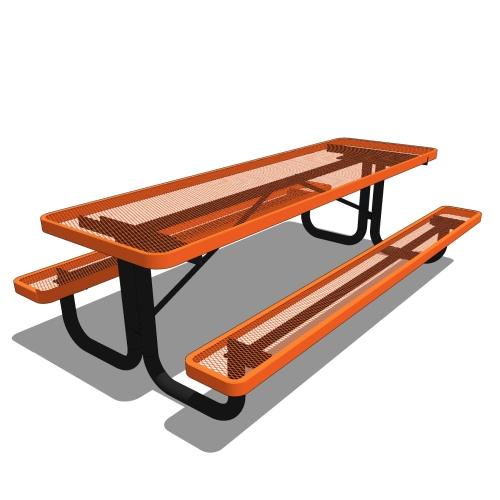 8′ Children's Rectangular Portable Picnic Table