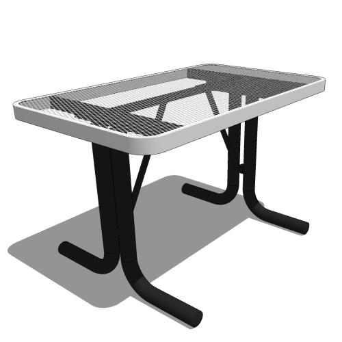 4′ Portable Rectangular Portable Utility Table