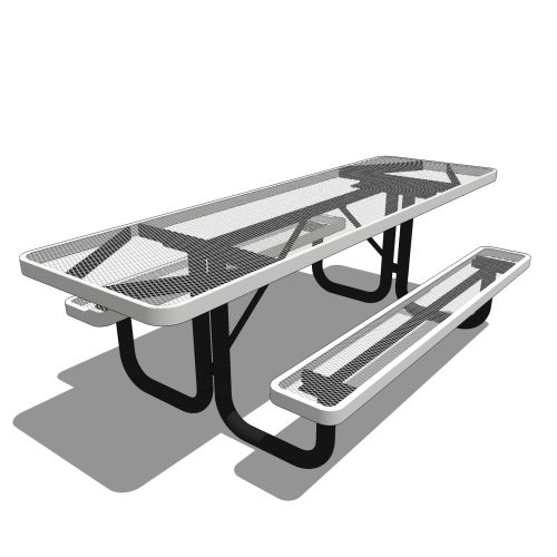 8′ Portable Rectangular Picnic Table 2 Sided Accessible