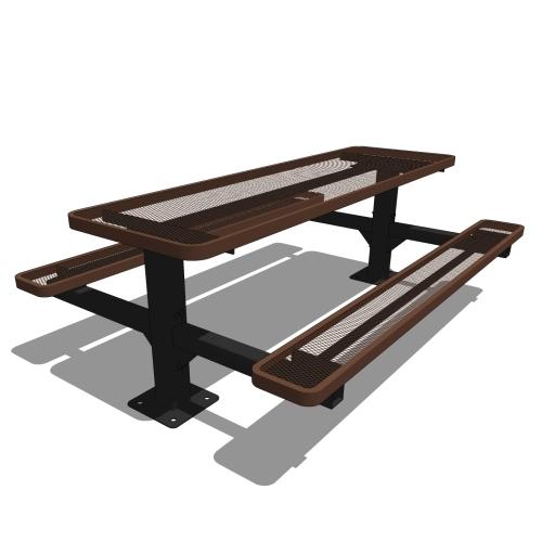 8′ Double Pedestal Table