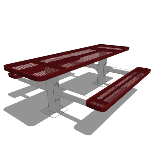 8′ Independent Pedestal Table Accessible
