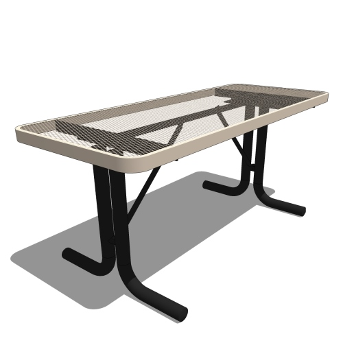 6′ Portable Rectangular Portable Utility Table