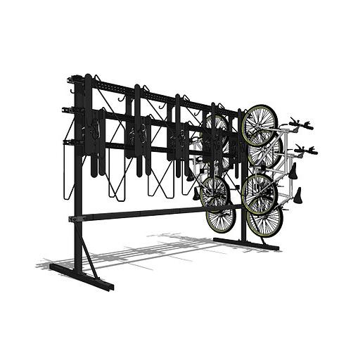 K21™ Double Sided Free Standing Vertical Bike Rack