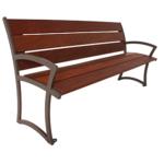 Madison Bench With Back – Ipe Wood