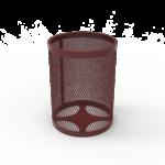 Round Steel Trash Receptacle – 32 Gallon